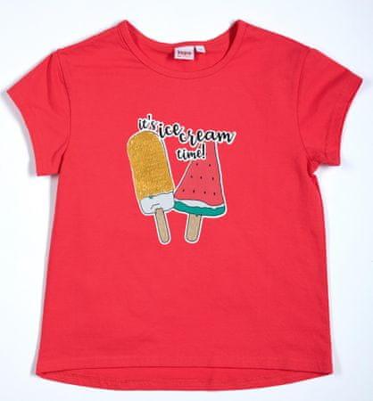 Topo koszulka dziewczęca 116 czerwona