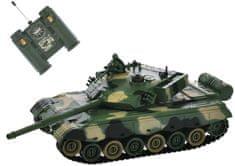 Mikro hračky RC tank 26cm 1:28 40MHz zeleno-hnědý na baterie