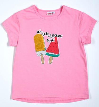 Topo dievčenské tričko 92 ružová