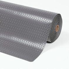 Šedá protiúnavová průmyslová laminovaná rohož Cushion Trax - 1,4 cm