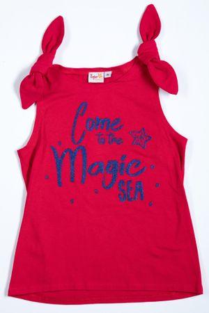 Topo majica za djevojčice, 134, crvena