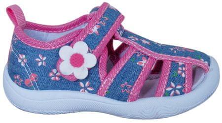 896872816 Protetika dievčenské papučky s kvetinou 19 modrá | MALL.SK