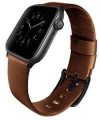 UNIQ pasek skórzany Mondain Apple Watch 44/42mm, Sepia
