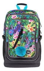 BAAGL Iskolai hátizsák Cubic Street Tropical