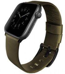 UNIQ pasek skórzany Mondain Apple Watch 44/42mm, Olive