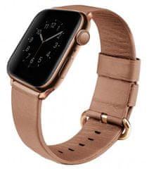 UNIQ pasek skórzany Mondain Apple Watch 40/38mm, Coral