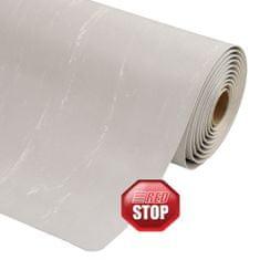Šedá protiúnavová průmyslová laminovaná rohož Marble Soft - 1,27 cm