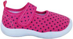 Protetika Dívčí bačkůrky s hvězdičkami, růžová, vel. 27 - použité