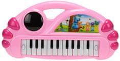 Mikro hračky Pianko 34x17,5cm na baterie, růžová