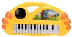 Mikro hračky Pianko 34x17,5cm na baterie, žlutá