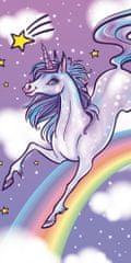 Carbotex Ręcznik kąpielowy dla niemowląt Unicorn