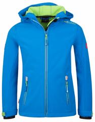 Trollkids Dívčí softshellová bunda Trollfjord - modro-růžová
