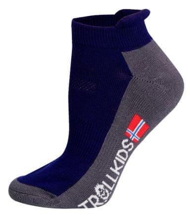 Trollkids detské nízke ponožky 23 - 26 modrá