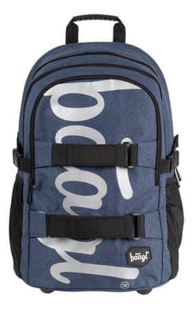 BAAGL Iskolai hátizsák Skate Blue