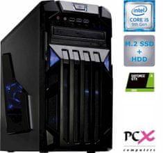 PCX namizni računalnik PCX EXAM i5-9400F/8GB/SSD 256GB+HDD 1TB/GTX1650/FreeDOS (PCX EXAM GAMING 4.0)