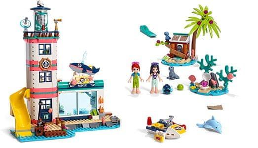 LEGO Friends 41380 Záchranné centrum u majáku + LEGO DOTS 41919 Náramek síly