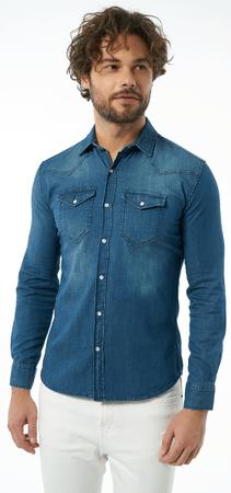 AUDEN CAVILL pánská košile M tmavě modrá