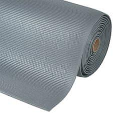 Šedá protiúnavová průmyslová rohož Sof-Tred, Crossrib - 1,27 cm