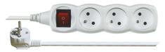 EMOS przedłużacz z przełącznikiem, 3 gniazda, 1,5 m, biały
