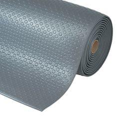 Šedá protiúnavová průmyslová rohož Bubble, Sof-Tred - 1,27 cm