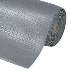 Šedá protiúnavová průmyslová rohož Diamond, Sof-Tred - 1,27 cm