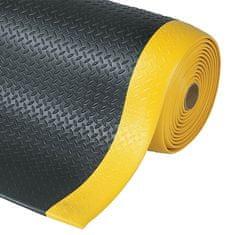 Černo-žlutá protiúnavová průmyslová rohož Diamond, Sof-Tred - 1,27 cm