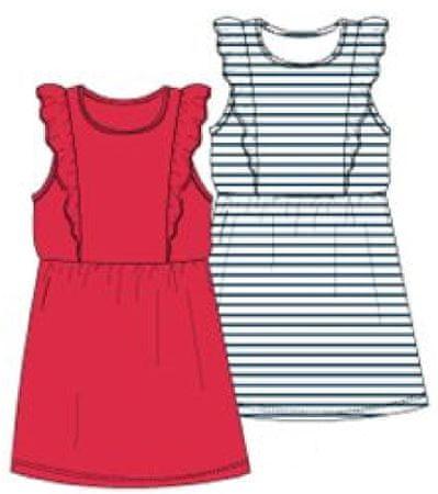Carodel komplet dekliških oblek, 2 kosa, 92, rdeč/moder