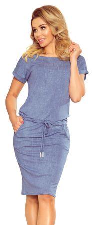 Numoco dámské šaty S modrá
