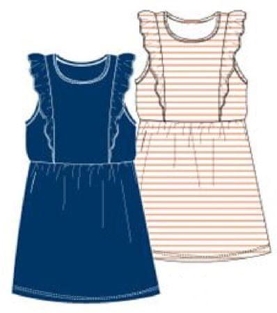 Carodel dekliški komplet oblek, 2 kosa, 128, belo moder