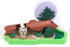 Hexbug Lil Nature Babies - Panda Lin a skalní vodopády, velký set