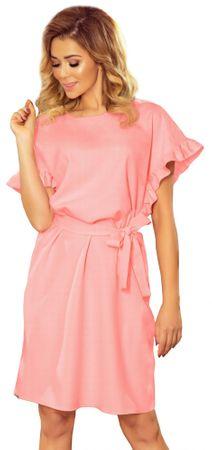 Numoco dámské šaty S růžová