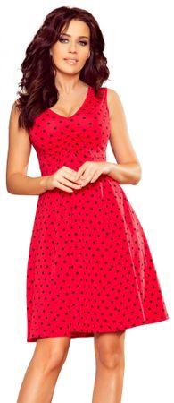 Numoco dámské šaty S červená