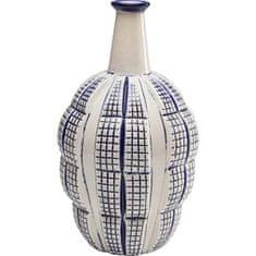 KARE Modrobiela keramická váza Casilla 35cm