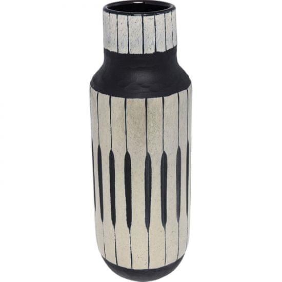 KARE Černá skleněná váza Africano 42cm