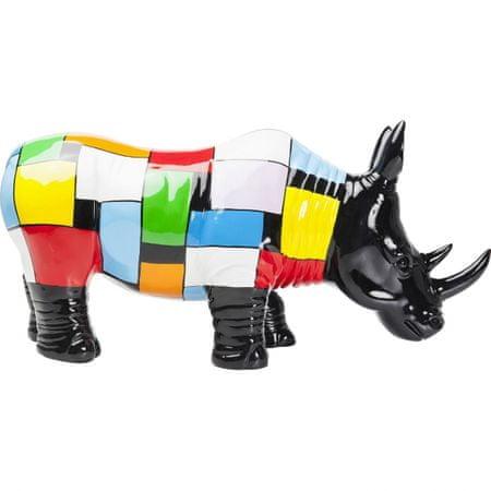KARE Dekorativní figurka Rhino Colore