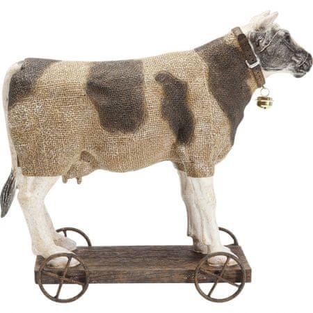 KARE Dekorativní figurka Cow On Wheels