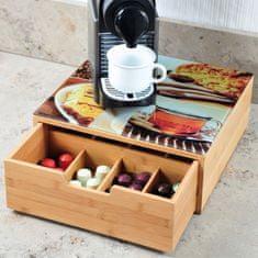 Kesper Box na kávové kapsle se skleněnou deskou