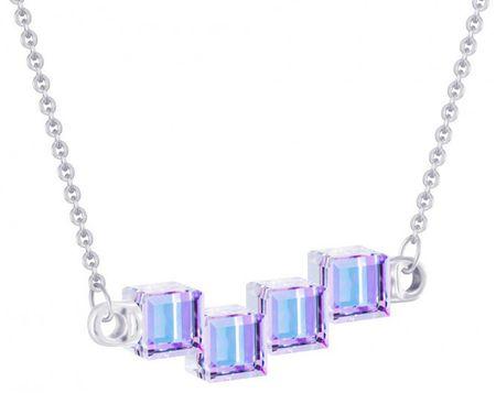Preciosa Crystal Cubes ezüst nyaklánc kristályokkal 6062 43 ezüst 925/1000