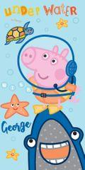 Carbotex Dětská osuška prasátko George Potápěč