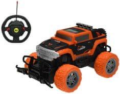 Mikro hračky RC auto off-road 1:20 20 cm 27 MHz s volantom, oranžová