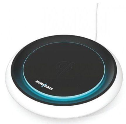 miniBatt FLY - podsvícená Qi bezdrátová fast charge nabíječka 10W, MB-FLY