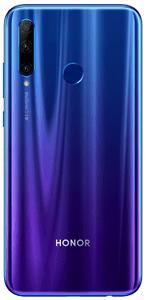 Honor 20 Lite, atraktivní gradientní design, barevný telefon
