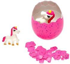Mikro hračky zabawka - jednorożec wykluwający się z jaja MEGA 20 cm, różowy