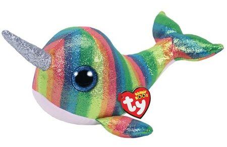 TY Beanie Boos Nori - barvna ribica, 24 cm