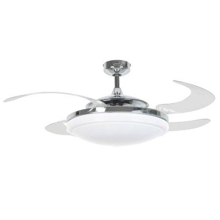 BEACON LIGHTING FANAWAY EVO2 210932 48″ chrom/transparentní Reverzní stropní ventilátor