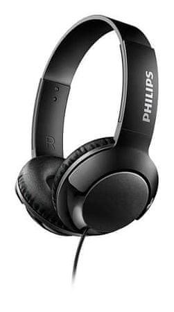 Philips slušalice SHL3070BK Bass+, crne