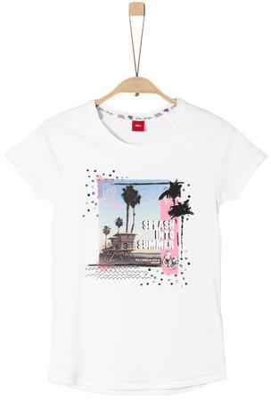 s.Oliver dievčenské tričko S biela