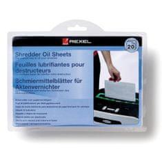 Rexel Čistící olejový papír do skartovaček 20 ks