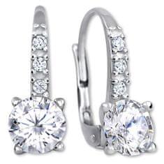 Brilio Silver Błyszczące Kolczykiz kryształkami 436 001 00480 04 srebro 925/1000