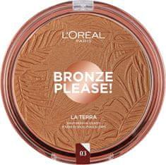 Loreal Paris Bronzový púder na tvár a telo La Terra ( Bronze r) 18 g